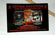 ABYSS RECORDS MAAX WAN FAUST HAT FUCT TORTURE 4x6 MINI POSTER FLYER POSTCARD