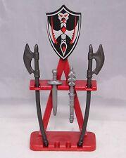 Playmobil Waffenständer Schild Schwert Streitkolben 2 x Langaxt NEU #13