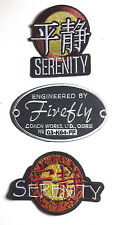Serenity/Firefly Patch Set of 3 Embroidered Patches- FREE S&H (SEPA-SETF)