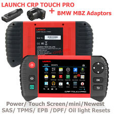 Launch CRP TOUCH PRO Diagnostic Scanner SAS TPMS w/ BMW BENZ Adaptor US shipping