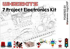 Whizzkit Seven Project Electronics Kit magicCHIP Green Build/Rebuild 7 Projects