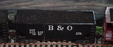 HO scale Roundhouse B&O 40' uncovered coal hopper with coal load 3 of 3