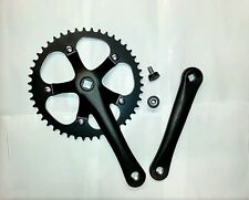 Black Fixed Gear Fixie Bike/Cycling Single Speed Track Crankset Crank 46t