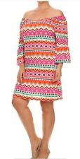 WOMENS PLUS DRESS 1X TUNIC TOP NEW 14 16 XL CUTE NWT OFF SHOULDER SPRING DEAL