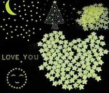 100pcs Wall Light Green Glow In The Dark Star Stickers Decal Baby Kids Room HL
