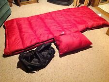 New  Gander Mountain  Hawk Springs 40 Rectangular Sleeping Bag with Pillow, sac.