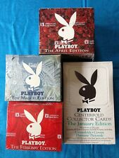 Playboy Centerfold Collector Cards Boxes - January - April (4) - Factory sealed