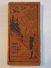 """1929 BOY SCOUT DIARY BOOKLET - EXCELLENT CONDITION  -  5 1/4"""" X 2 7/8""""  -  TUB G"""