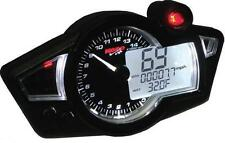 Koso RX-1N GP Style Multi-Function Gauge  Black Panel