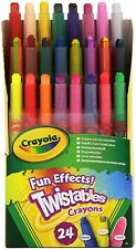 24 Crayola Twistables Fun Effects Crayons -Non Toxic - Rainbow - GENUINE CRAYONS