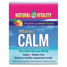 Natural Vitality, Natural Calm, Magnesium,  Raspberry-Lemon Flavor, 30 packs