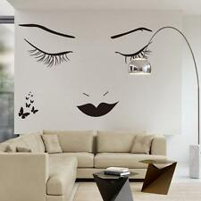Home Bedroom Decorative Vinyl Wall Sticker Decals Sex Lady Face Wallpaper New