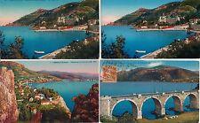 Lot 4 cartes postales anciennes THEOULE CORNICHE D'OR couleurs