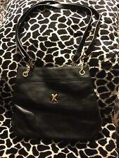PALOMA PICASSO Black Leather Vintage Shoulder Bag