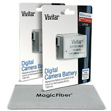 2x Vivitar LP-E8 Battery for Canon REBEL T5i T4i T3i T2i EOS 700D 650D 600D 550D