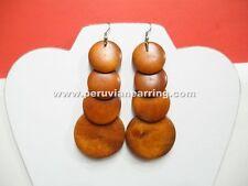 Wholesale of 12 pairs of Earrings Boho Bohemian Fashion Style Wood Drop Dangle