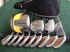 Taylormade Cobra Nike Driver Irons Wood Hybrid Mens Complete Golf Club Set L.H.*