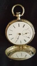 H.HUGUENIN POCKET WATCH KEY WIND FINE SILVER RARE FOR REPAIR