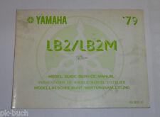 Taller de mano libro suplementario Service Manual yamaha lb 2/lb 2 m stand 11/1978