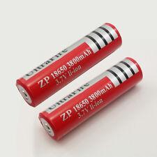 2pcs Batería Pila Li-ion 18650 3800mAh 3.7V Para Linterna Flashlight
