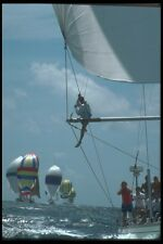 172020 Checking The Spinaker At Antigua Race Week 1989 A4 Photo Print