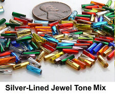 7mm Twisted Bugle Czech Preciosa Glass Beads 10-Grams Choose Color
