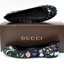 GUCCI New sz 39.5 - 9.5 Authentic Designer Womens Shoes Ballet Flats Black