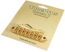 TonePros TP7 Locking 7-STRING Metric Tuneomatic Guitar Bridge, GOLD TP-7