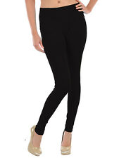 Womens Black Leggings Footless Sexy Skinny Pants Stretchy New One Size Polyester