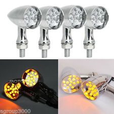 4x 14LED Bullet Motorcycle Turn Signals for Honda Ruckus Aero Victory Hammer