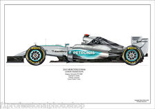 2015  Lewis Hamilton Mercedes W06  ltd ed. of 250 signed & numbered by artist