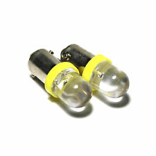 2x Yellow Wide-Angle LED [233,T4W,BA9S] 12v Indicator/Side Light/Interior Bulbs