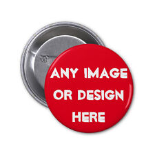 "10 custom 1.25"" PINBACK BUTTONS with any photos designs personalized pins badges"