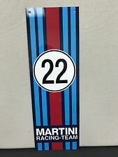 Martini Racing porsche advertising garage sign baked