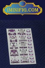 Custom LEGO Star Wars: Purple Clone Trooper decals x 5 #056A