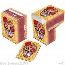 Dia De Los Muertos - Pink Skull ULTRA PRO deck box FOR MTG POKEMON CARDS