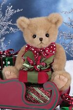 "10"" PLUSH CHRISTMAS BEAR 2015 ""GAVIN GIFTS"" #173233 BEARINGTON COLLECTION"