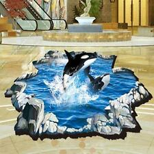 Removable Dolphin 3D Stickers Wall Decal Mural DIY Decor Kid Room Art