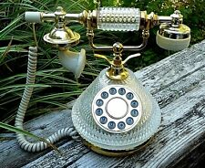 Retro/Vintage Gold and Glass Pushbutton Victorian Style/ French Telephone