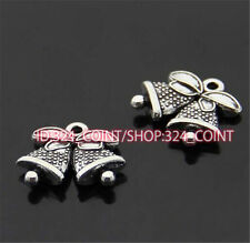 P279B 30pc Tibetan Silver bell Charm Beads Pendant accessories  wholesale