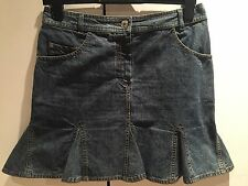 100% authentic Dior cute denim mini skirt with logos FR 38 UK 10