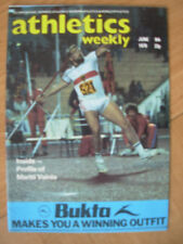 ATHLETICS WEEKLY JUNE 9th 1979 MICHAEL WESSING GERMANY JAVELIN