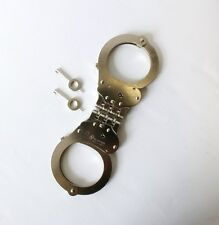 Double Lock Silver Hinged Pro-Cuff Hiatts Speedcuff Quickcuff TCH Army Handcuffs