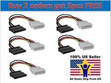 Lot 5x 4 Pin IDE Molex to 15 Pin Serial ATA SATA Hard Drive Power Adapter Cable