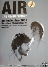 AIR 2007 BARCELONA, SPAIN CONCERT POSTER - FRENCH ELECTRONICA BAND