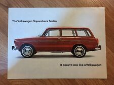 Original 1965 Volkswagen Folding Sales Brochure - Squareback Sedan Poster