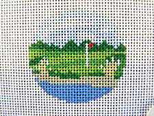 Susan Roberts HP Needlepoint Canvas Insert Seaside Golf Course 7997 18 hpi NEW