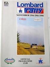 LOMBARD RAC Rally Nov 1990 Motor Racing Official Programme