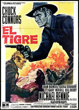 EL TIGRE MANIFESTO CINEMA WESTERN USA 1966 RIDE BEYOND VENGEANCE MOVIE POSTER 4F