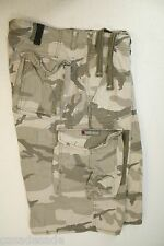 Ecko Unltd Gray Ghost Camo Cargo Shorts Drawstring Waist (Mens 38) Zipper 2572
